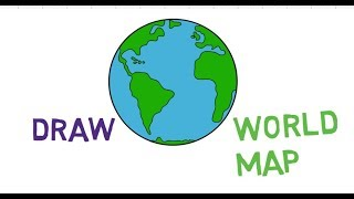 How to Draw World Map step by step (easy way) tutorial | jtv production