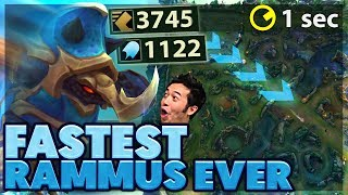 ACROSS THE MAP IN 1 SECOND   POWERBALL OF DEATH   FULL AP RAMMUS SUPPORT - BunnyFuFuu