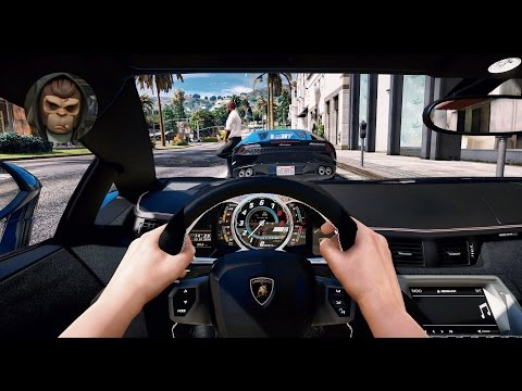 ► GTA 5 REDUX ✪ - Ultra Realistic Graphic ENB MOD - First Person Aventador - 1080p 60 FPS GTA 6
