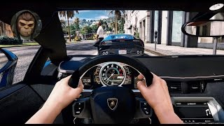 ► GTA 5 REDUX ✪ - Ultra Realistic Graphic ENB MOD - First Person Aventador - 1080p 60 FPS GTA 6