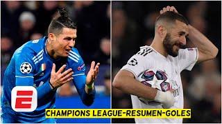 Real Madrid 1-2 Manchester City. Lyon 1-0 Juventus. Sorpresas en 8vos | Goles UEFA Champions League