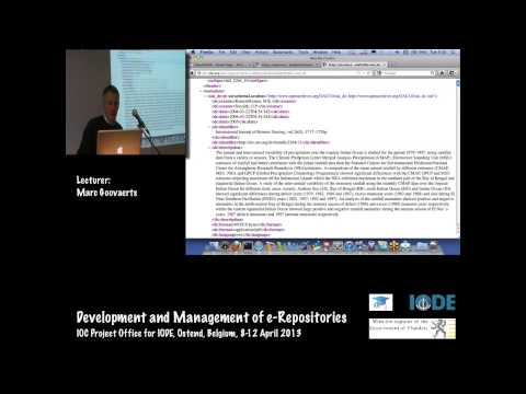 Repository software: Overview, ePrints, DSpace, by Marc Goovaerts