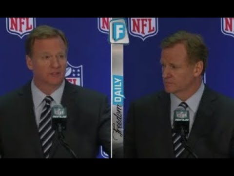 ANTI AMERICAN NFL COMMISSIONER OBLITERATED FOR ALARMING MESSAGE HE HID IN PLAIN SIGHT DURING PRESSER