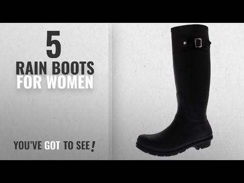 Top 5 Rain Boots For Women [2018]: Polar Products Womens Snow Tall Waterproof Rain Muck Dog Walking