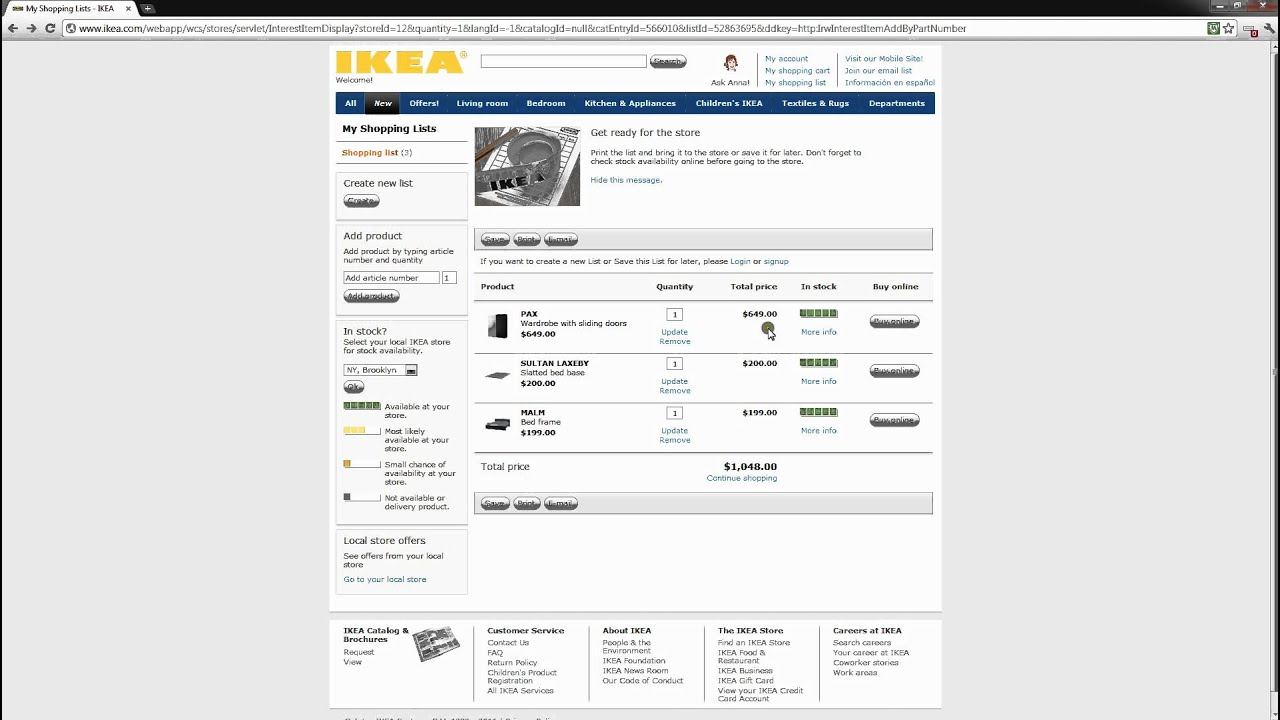 Ikea online order tutorial by cargo taxi youtube for Ikea compra online