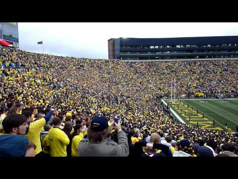 Michigan Stadium: Wolverines vs. Penn State 10/24/2009 National Anthem with Flyover