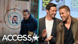 Ryan Reynolds Uses Hugh Jackman's Face As Target For Axe Throwing