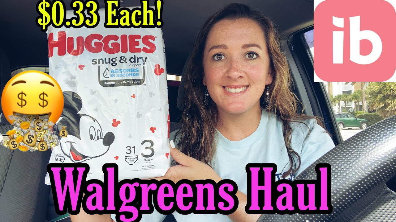 Walgreens Haul 9/20-26/2020 I $0.33 Huggies Diapers! I Get back $5 from Ibotta!