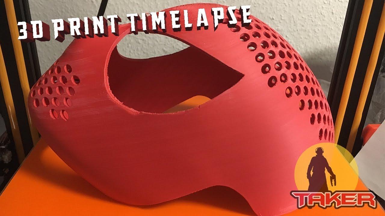 3D Print Timelapse - Spider-Man Faceshell