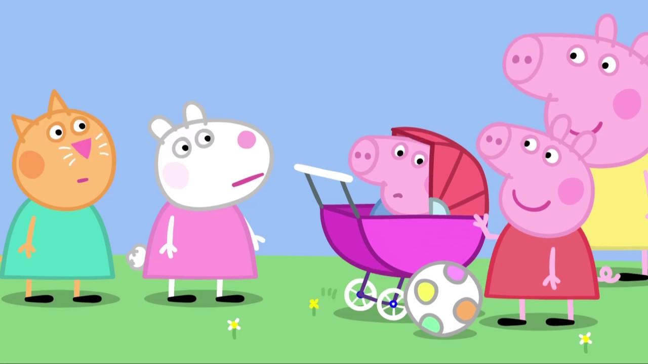 Peppa Pig 粉紅豬小妹 第2季39【豬寶寶 The Baby Piggy】中文版1080P - YouTube