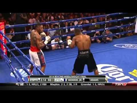 Brandon Adams vs Willie Monroe Jr 23 05 2014 ESPN Firday Night Fights