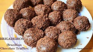Brazillian chocolate truffles | How to make Brigadeiros with condensed milk