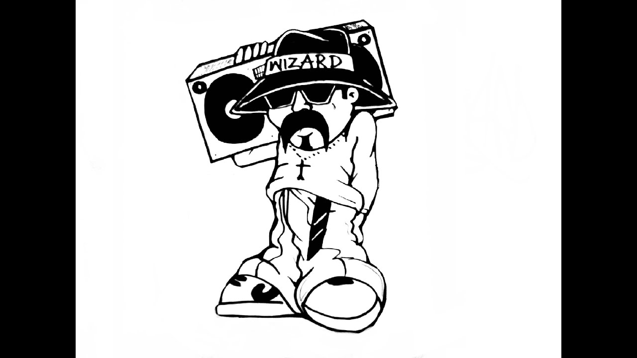 Learn To Draw A Cholo Con Su Boombox Payaso No Tears On My