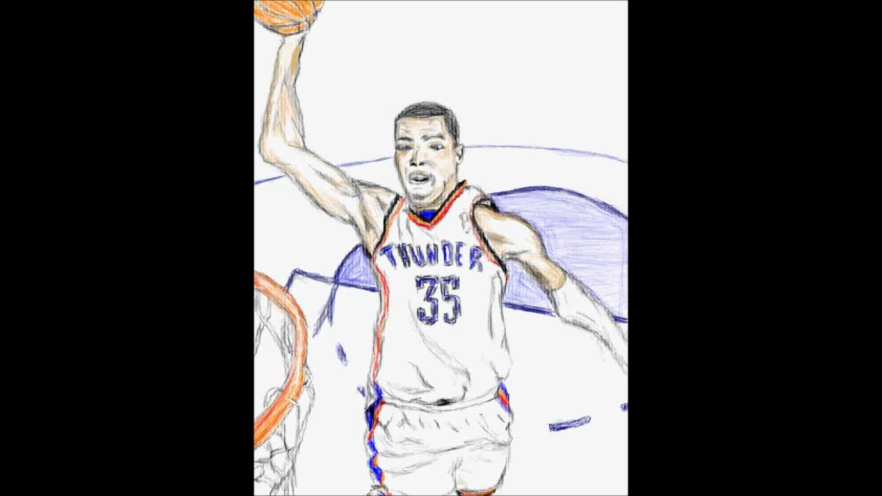 drawing kevin durant youtube