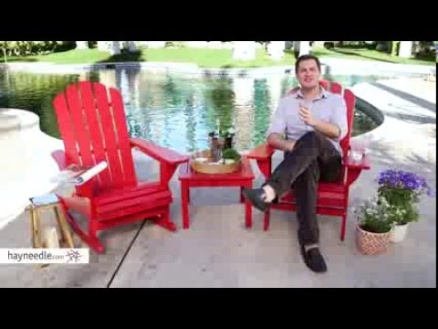Belham Living Shoreline Adirondack Chair - Red - Product Review Video