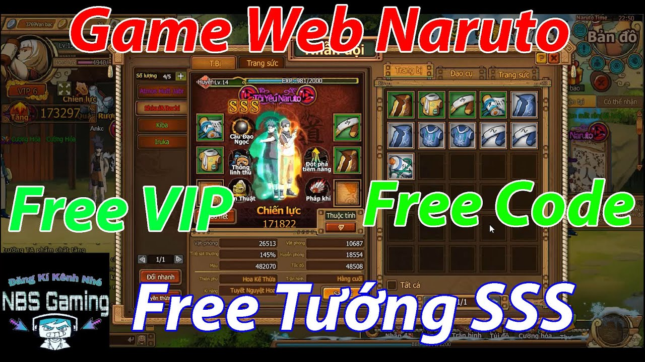 Game Web Private Naruto | Free VIP | Free Code | Free Tướng SSS | NBSGaming