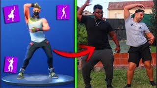 ADIVINATE THE FORTNITE BAILE WITH A PHOTO IN REAL LIFE!!