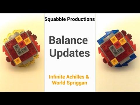 *EPIC* Balance Updates! Infinite Achilles & World Spriggan | Lego Beyblade Reviews