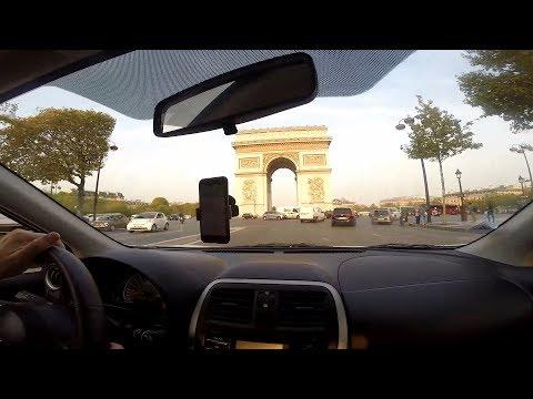Paris 2017 - Dirigindo na Place Charles de Gaulle