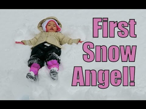 First Snow Angel- February 21, 2015 ItsJudysLife Vlogs