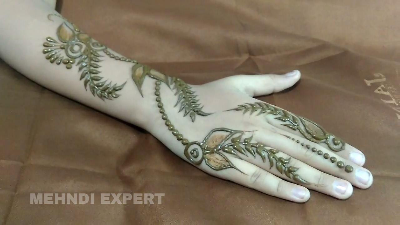 Mehndi Designs Tutorial Youtube : Modern style mehndi or henna design step by