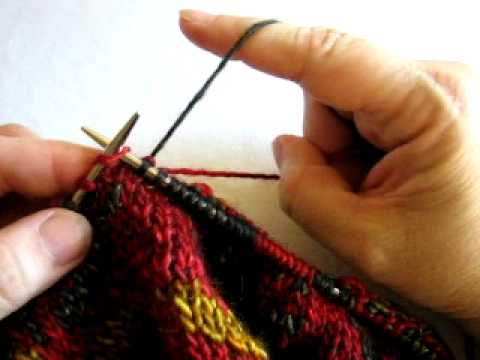 catching floats, yarn in right hand - YouTube
