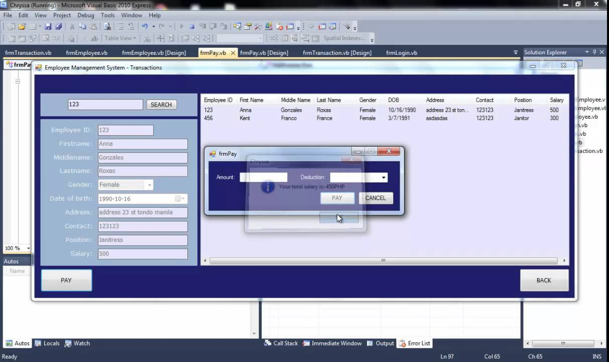 simple employee management system - youtube