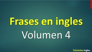Frases básicas en inglés principiantes English Basic 4