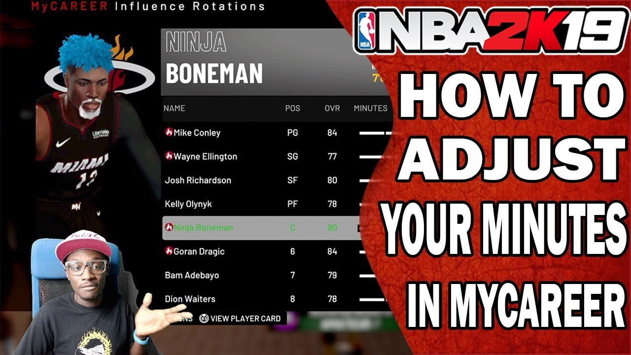NBA 2K19 How To Change Your Minutes in MyCareer