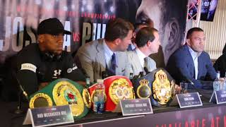 Video ANTHONY JOSHUA v KUBRAT PULEV - *FULL & UNCUT* PRESS CONFERENCE (CARDIFF) / JOSHUA-PULEV download MP3, 3GP, MP4, WEBM, AVI, FLV September 2017