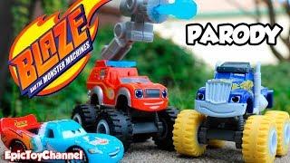 BLAZE AND THE MONSTER MACHINES Surprise Egg  Dino Blaze Monster Truck & Surprise Toys for Kids