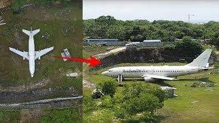 Orang² bingung pesawat Terdampar di Tanah Lapang,setelah diselidiki ternyata...