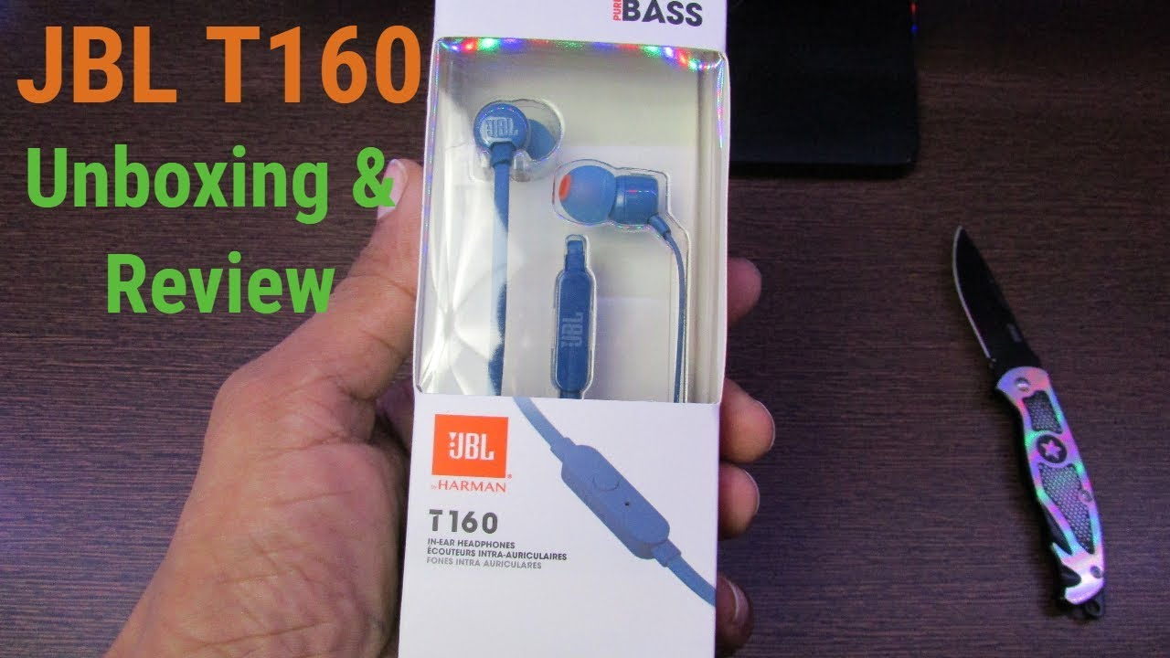 90451c52203 JBL T160 in-Ear Earphones with Mic Unboxing, Review & First Look ...