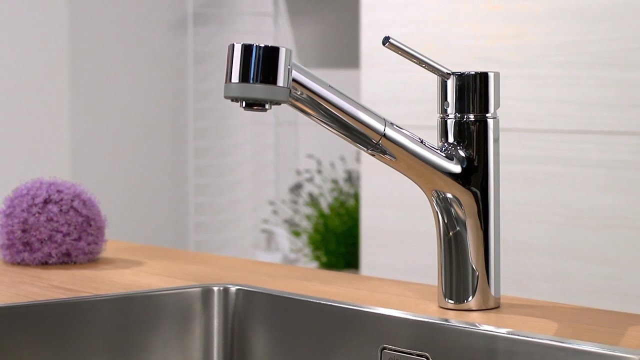 Single Lever Kitchen Faucet Stainless Trash Can Hansgrohe Talis S Mixer With Pull-out ...