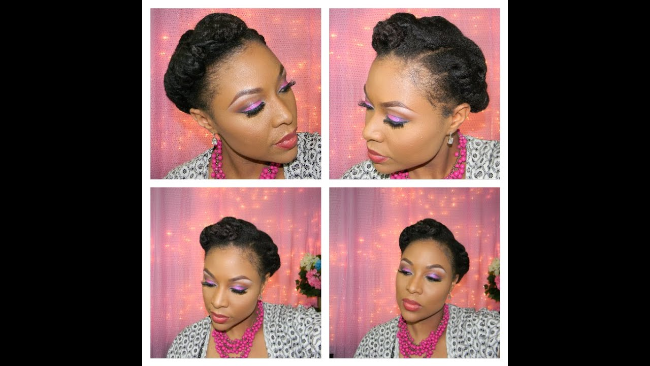 Natural Hair Tutorial Protective Styling For Spring