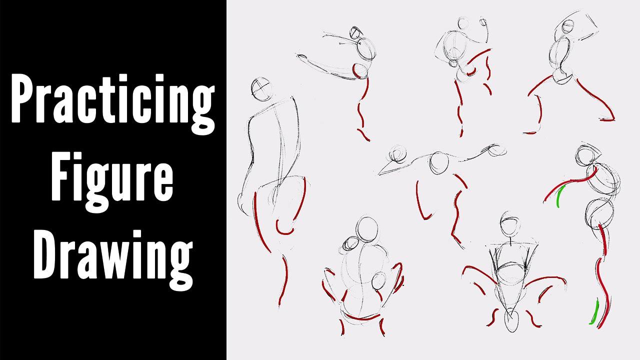 Week's Worth of Figure Drawing Practice - YouTube