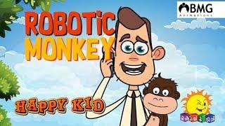 Happy Kid | Robotic Monkey | Episode 114 | Kochu TV | Malayalam