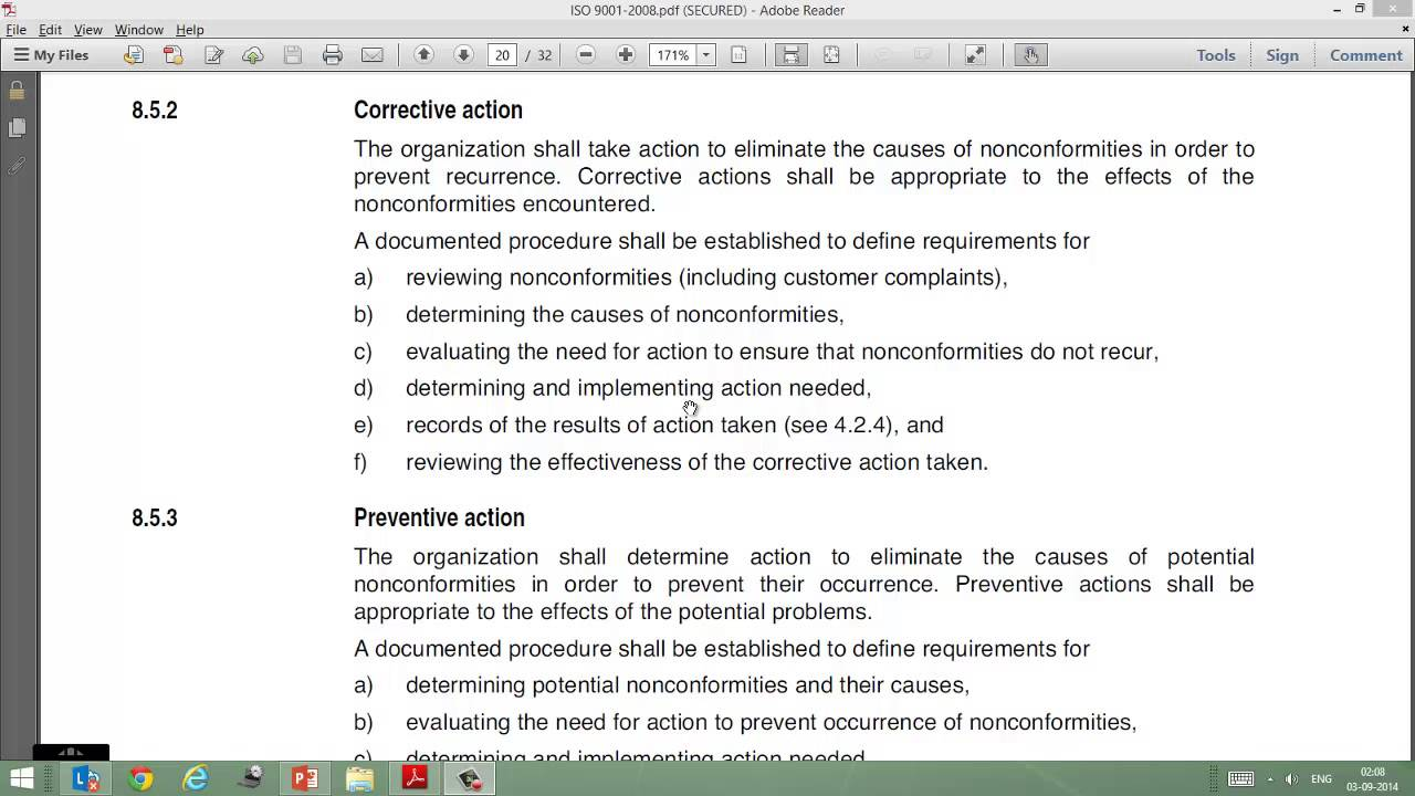 Video On Iso 9001 Clause 8 5 2 Corrective Action Youtube