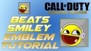 Smiley Face with Beats Headphones Emblem Tutorial - COD Advanced Warfare Emblem Tutorial