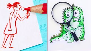 17 Easy and Cool Drawing Tricks
