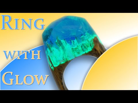 """How to do it?  Magic ring """"Blue Abyss""""(Epoxy Resin and Wood)   Art Resin"""