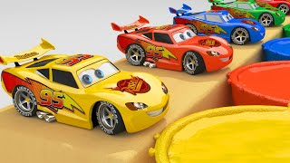 Learn Colors with Lightning McQueen Cars 3D   Colors for Children Learning Educational Video
