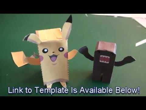 Popular Craft Projects   007: Paper Pikachu Box Figure (Finger Puppet  Pokemon)   TCGames (HD)   YouTube