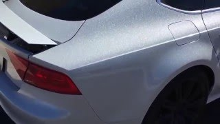 Diamond silver wraps by T_Wrap Automotive in AZ