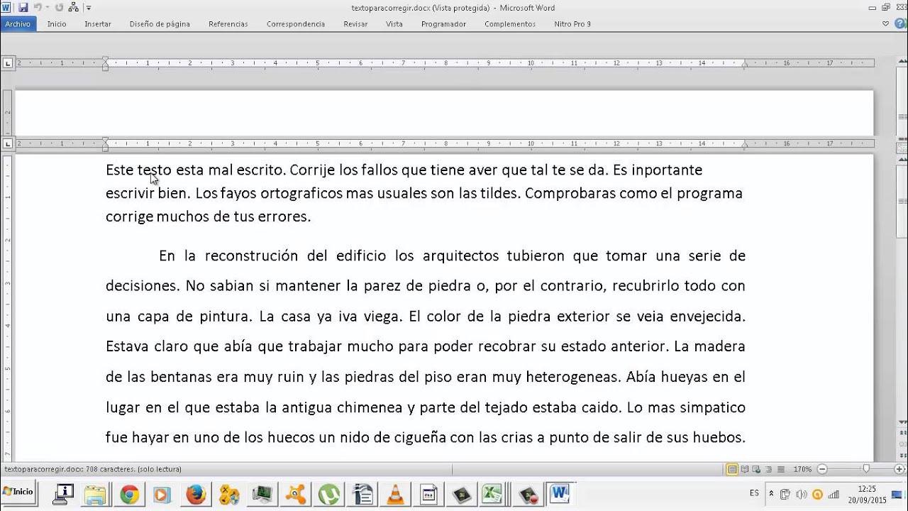 Editor De Texto Corregir Faltas Ortografia Y Gramatica Oace Youtube