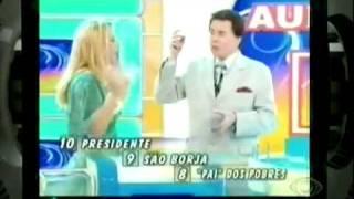 SILVIO SANTOS HUMILHA CARLA PERES (OFICIAL) SENSACIONAL