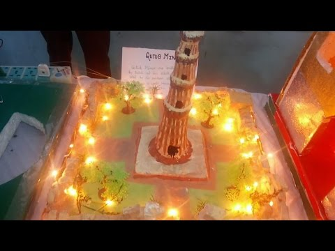 3D Qutub Minar model  - Best Model / Project for School Fair And  Exhibition
