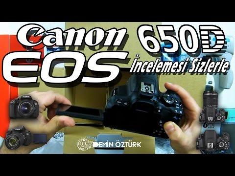 Kamera Vlog'u - Canon 650D DSLR Fotoğraf Makinesi Kutu Açılışı ve Tanıtımı