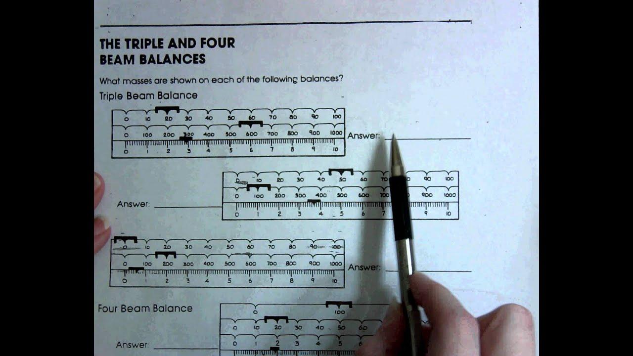 The Triple And Four Beam Balances