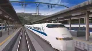 新VRM3★仮想越河駅レイアウト制作No43新幹線配置下り線前面展望から